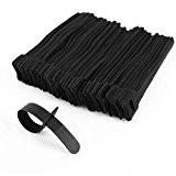 100 x attache câble en nylon noir réglable L 15cm