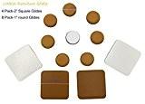 """12-pack meubles glisse pour moquettes, 4Pack-2""""(50mm) Autocollant carré meubles glisse et Lot de 82,5cm (25mm) meubles Slide curseurs de planeurs, ..."""