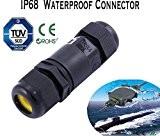 234broches IP68connecteur de fil de câble électrique étanche 4m de profondeur d'eau, 3 Pin, 1