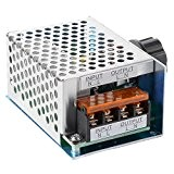 4000W AC 220V Régulateur de tension électronique de puissance élevée SCR Régulateur de gouverneur Régulateur de vitesse de thermostat de ...