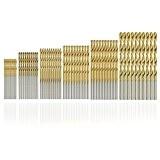 60pcs Forets Hélicoïdaux, SYCEES Forets HSS titanium 1/1,5/2/2,5/3/3,5mm foret acier rapide, micro mèche set outils