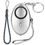 ACRATO Alarme Personnelle d'Urgence avec Torche LED - 130 dB - Système d'Auto-Défense et de Sécurité en Cas d'Attaque, de ...
