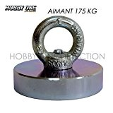 Aimant Néodyme spécial détection - Diam : 7,5cm - Adhérence : 175 kg