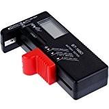 Anpro Testeur de Piles Universel Testeur AAA AA de Batterie Testeur de C D 1.5V 9V Piles Bouton Testeur Numérique ...