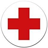 Autocollants RDC Croix Rouge Ø 12cm Pour Armoire à Pharmacie ou armoire à pharmacie, avec protection UV stratifié