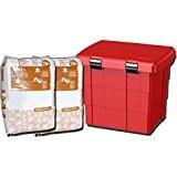 Bac à sable incendie plastique avec 2 sacs d'absorbant