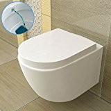 Bidet/wC avec fonction taharet wC/toilettes/salle de bain/wC suspendu céramique et abattant à fermeture en douceur soft-close et wC-plats