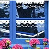 Bluelover 240 cm fenêtre blanc romantique dentelle autocollant Stickers Floral Stickers muraux fenêtre vitrine Decor