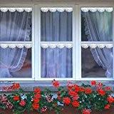Bluelover 240cm fenêtre dentelle autocollant autocollants Stickers Floral blanc romantique mur fenêtre vitrine Decor