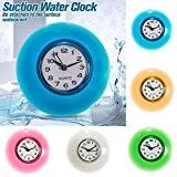 Bluelover Salle de bain mur imperméable résistant horloge minuterie aspiration tasse - blanc