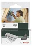 Bosch 2609255813 Set de 1000 clous d'agrafage Type 48 Longueur 14 Tête Largeur 1,8 mm Epaisseur 1,45