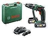 """Bosch Perceuse-visseuse à percussion """"Expert"""" sans fil PSB 18 LI-2 Ergonomic 2 batteries 18V 2,5 Ah, technologie Syneon 06039B0301"""
