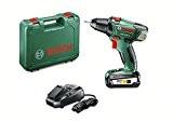 "Bosch Perceuse-visseuse ""Expert"" sans fil PSR 18 Li-2, coffret 1 batterie 18V 2,5 Ah, technologie Syneon 060397330G"