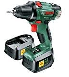 "Bosch Perceuse visseuse ""Expert"" sans fil PSR 18 LI-2, coffret 2 batteries 18V 2,0 Ah, technologie Syneon 060397330A"