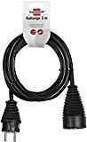 Brennenstuhl 1165431 Rallonge électrique 3 m H05VV-F 3G1,5 Noir