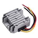 DROK® Etanche synchrone DC-DC Converter Buck 5.5-32V à 1-27V Régulateur de tension 24V à 12V à 5V 5A réglable VDC ...
