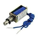 Electro-aimant solénoïde électrique type pousser / tirer 10mm DC 12V 2.1Kg Force