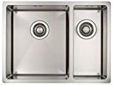 Evier de cuisine Mizzo Design Linea 34-18 Affleurant / Sous plan - Cuve de cuisine/ évier 2 bacs acier inoxydable ...