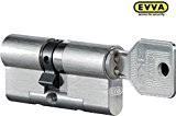 Evva 3KS plus double cylindre haute sécurité avec 3clés, longueur (A/B) 36/66mm (C = 102) Longueur A = 36mm avec ...