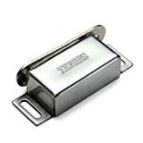 FACILLA® Loquet Fermeture Magnétique Fixation en Alliage Argent pour Porte Placard