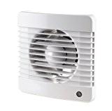 Fantronix Ventilateur extracteur pour salle de bain/toilettes/cuisine avec volet, humidité et minuterie Blanc 100mm