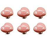 fbshop (TM) Lot de 6en forme de cœur boutons en céramique Poignées de meubles, bonbons couleur bébé Kid Enfants de ...