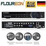FLOUREON A7008NS DVR Vidéo Enregistreur 8CH 1080N AHD H.264 CCTV P2P HDMI Système Cloud Clé USB Détection de Mouvement Alarme ...
