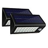 GRDE® Eclairage d'Exterieur Lampe Solaire Etanche en 400 Lumens 32 LED Solaire PIR Lumiere avec Tournevis pour Maison Jardin Couloir ...