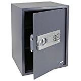 HMF 4612512 Coffre-fort, coffre-fort à poser avec serrure électronique, 50 x 35 x 33 cm , anthracite