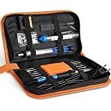 INTEY Kit Fer à Souder Kit de Soudage Réglable Electrique 13Pcs 60W 220V Température Kit de Soudure Pompe à Dessouder/Support/Brucelles ...
