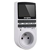 Jerrybox Prise Programmable Digitale, Minuterie 24H/7J, Prise de Courant Classique, Econome en Energie Pour Les Lumières de La Maison et ...
