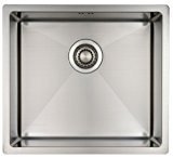 Kitchen Sink Mizzo Design - One/Single Bowl Square Stainless Steel Kitchen Sink- For both undermount and flushmount installation - Satin ...