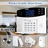 KKmoon GSM SMS Kit de Home Burglar Sécurité alarme Système Détecteur Sensor sans fil avec télécommande 433MHz