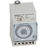 Legrand LEG412812 Inter-horaire programme analogique Cadran horizontal journalier sans Réserve marche