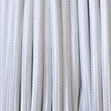 Lightstyl - Cable électrique textile blanc - DECL-127 - 5 METRES Fil électrique tissu design Tendance retro