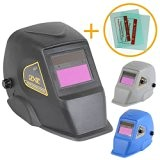 Linxor France ® Masque de soudure automatique 9 à 13 DIN + 2 Verres de protection - Trois coloris - ...