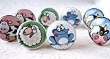 Lot de 8 boutons de Porte Placard Tiroir Meuble Céramique enfant