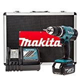 Makita DHP453RFX Perceuse Visseuse à Percussion avec Batterie 18 V 3 Ah