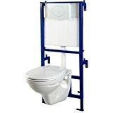Pack wc suspendu Mural + cuvette wc NF