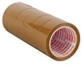 Packatape® - 6 rouleaux de ruban d'emballage marron de 48 MM x 66 M pour colis et boîtes de bande ...