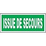 Panneau ISSUE DE SECOURS – PVC - 200 x 80 mm