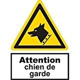 Panneau picto Attention chien de garde - PVC - A5