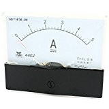 Panneau Testeur analogique pour ampèremètre DC 0–5A 44C2 de gamme