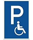 Parking handicapés enseigne (Bleu, 20x 30cm)   Plaque signalétique parking de Personnes handicapées   Parking Réservé–pour Fauteuil Roulant   Parking ...