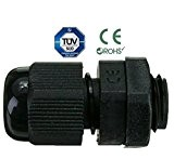 presse-étoupes–étanche IP68Compression M8M12M16M20M24M24Noir ou blanc, M20, noir, 1
