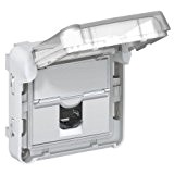 prise rj45 cat.6 ftp volet fermé legrand plexo gris (composable)