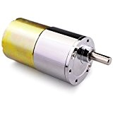 Quimat DC Micro Gear Box Motor Speed Reduction Electric Gearbox Eccentric Output Shaft (12V, 200rpm)
