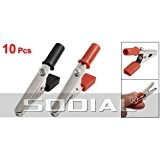 SODIAL(R) 10 x pince crocodile metallique Poignee en plastique 50mm Sonde de test