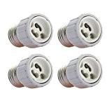 Sonline 4x E27 vers GU10 led lumiere Adaptateur douille culot adapte lampe ampoule CONVERTISSEUR