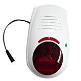 SZABTO Sirène d'alarme sans fil avec flash et son